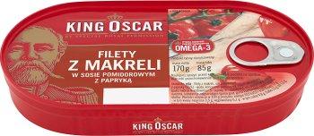 King Oscar Filety z makreli w sosie pomidorowym z papryką