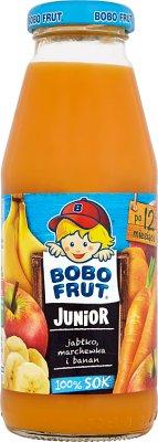 Bobo Frut Junior sok 100% jabłko, marchewka i banan