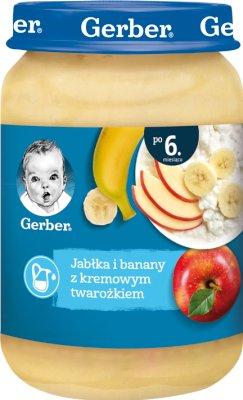 Gerber deser  jabłka i banany z kremowym twarożkiem