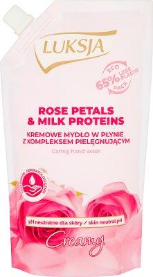 Luksja creamy mydlo zapas z płatkami róż i proteinami mleka