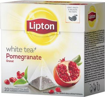 Белый чай ароматизированный в piramidkach гранатой