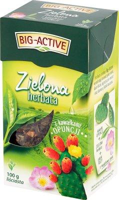 Big-Active Herbata zielona liściasta z kawałkami opuncji