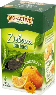 зеленый чай Лиственные фрукты с апельсинами