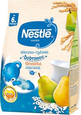 Nestle Kaszka mleczno-ryżowa na dobranoc Gruszka