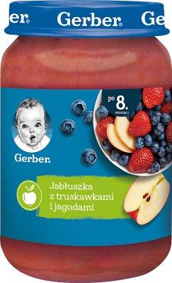 Gerber Deser  Jabłuszka z truskawkami i leśnymi jagodami