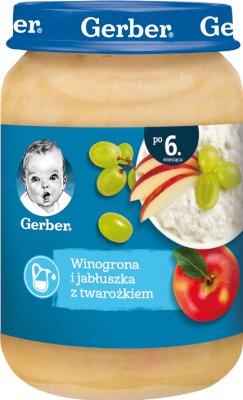 Gerber Deser  Winogrona i jabłuszka z twarożkiem