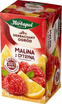 Herbapol Herbaciany Ogród Malina z cytryną herbata w torebkach