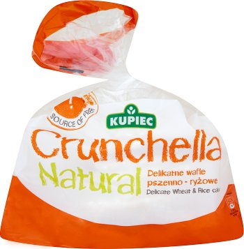 Kupiec Crunchella Natural Lekkie wafle pszenno-ryżowe