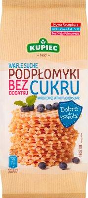 Kupiec Wafle Suche Podpłomyki Delikatesowe Bezcukrowe 16 sztuk