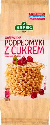 Kupiec Wafle Suche Podpłomyki Delikatesowe z cukrem 16 sztuk