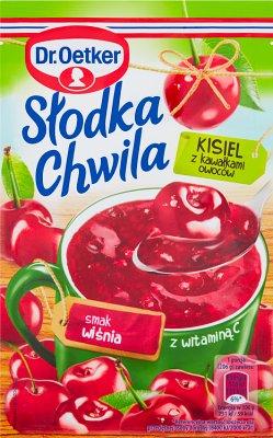 Dr. Oetker Słodka Chwila Kisiel z kawałkami owoców smak wiśniowy