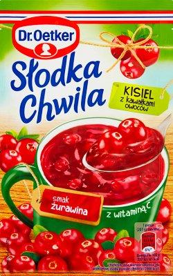 Dr. Oetker Słodka Chwila Kisiel z kawałkami owoców smak żurawinowy
