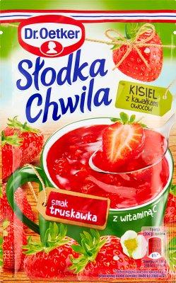 Dr. Oetker Słodka Chwila Kisiel z kawałkami owoców smak truskawkowy
