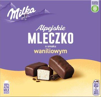 Milka Alpejskie Mleczko o smaku waniliowym