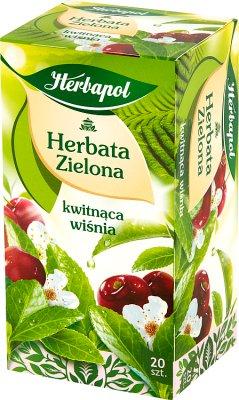 Herbapol Zielona Kwiat Wiśni herbata w saszetkach
