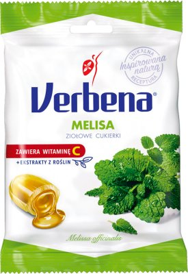 Verbena ziołowe cukierki Melisa z witaminą C- naturalne uspokojenie