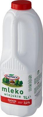 Piątnica Mleko wiejskie świeże 3.2% zawartości tłuszczu