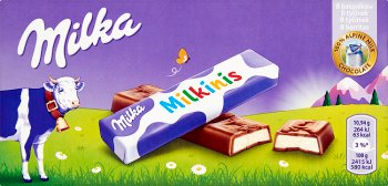 Milka Milkinis 8 batoników z mlecznym nadzieniem