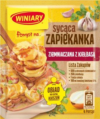 Winiary Pomysł na...  Zapiekankę ziemniaczaną z kiełbasą i cebulką