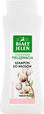 Biały Jeleń Szampon do włosów hipoalergiczny z czystą bawełną do skóry tłustej, wrażliwej ze skłonnością do alergii