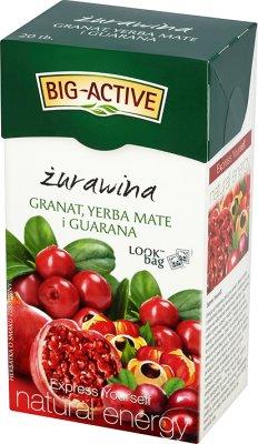 Big-Active herbata owocowa żurawina, granat, yerba mate i guarana