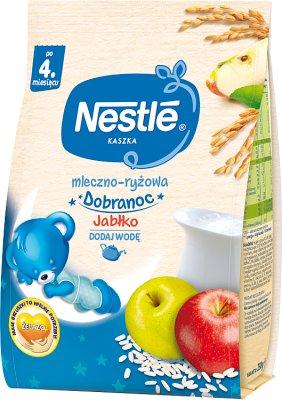 Nestle na dobranoc kaszka mleczno-ryżowa, bifidus jabłko