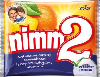 Nimm2 Nadziewane cukierki pomarańczowe i cytrynowe wzbogacone witaminami
