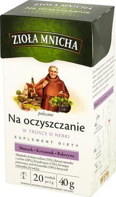 herbes purification de moine bio- actif , vert sachets de thé de 2g