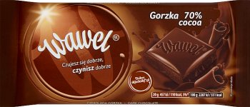 Cracovie amer naturel de chocolat