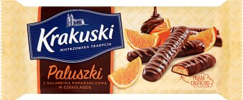 Krakuski Paluszki z galaretką pomarańczową w czekoladzie
