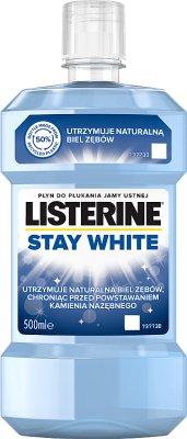 Listerine Stay White bielsze zęby Ochronny płyn do płukania jamy ustnej