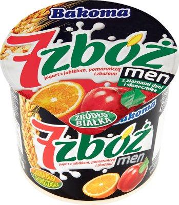 Bakoma 7 zbóż men jogurt jabłko-pomarańcza