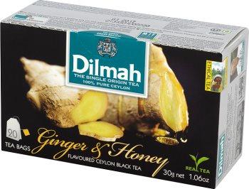Dilmah Herbata Czarna  Cejlońska czarna herbata z aromatem z imbiru i miodu