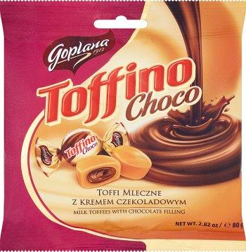 Solidarność Toffino toffi mleczne nadziewane kremem czekoladowym