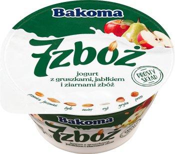 Bakoma 7 zbóż jogurt z jabłkami, gruszkami i ziarnami zbóż