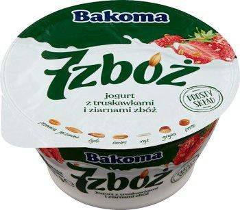 Bakoma 7 zbóż jogurt z truskawkami i ziarnami