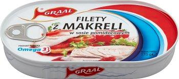 fillets of mackerel in tomato sauce