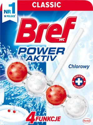 Bref Power Aktiv zawieszka do WC 4 Function formula Chlorine