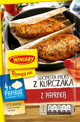 Winiary Pomysł na...  Soczystą pierś kurczaka z papryką