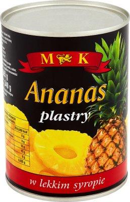 MK Ananas plastry w lekkim syropie