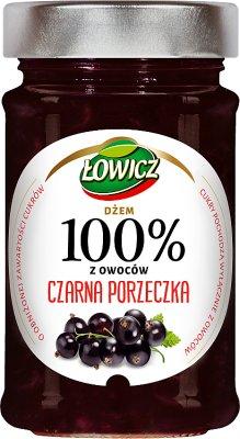 Łowicz Dżem 100% owoców Czarna Porzeczka
