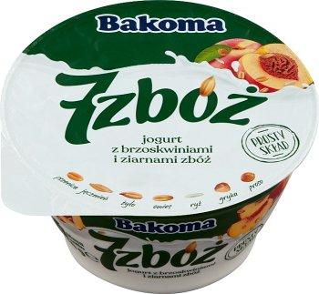 Bakoma 7 zbóż jogurt z brzoskwiniami i ziarnami zbóż