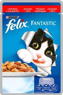Felix Fantastic karma dla kotów z wołowiną w galaretce