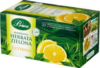 Bifix herbata zielona (20 torebek) z aromatem cytryny