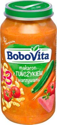 BoboVita Junior Obiadek Makaron z tuńczykiem i warzywami