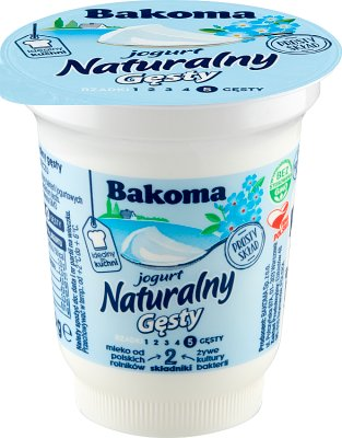 El yogur natural gruesa