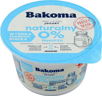 Bakoma jogurt naturalny 0%
