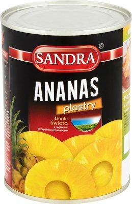 Sandra Ananas w plastrach w lekkim syropie