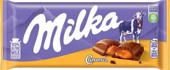 Milka Caramel mleczna czekolada z karmelowym nadzienim