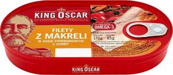 King Oscar Filety z makreli w sosie pomidorowym w curry
